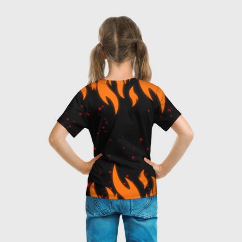 Детская 3D футболка с принтом Наруто Печать 2, вид сзади #2