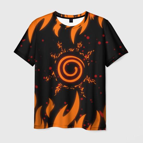 Мужская 3D футболка Наруто Печать 2