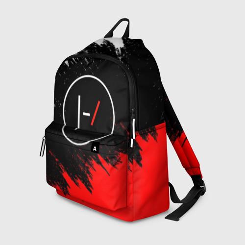 Рюкзак 3D с принтом TWENTY ONE PILOTS, вид спереди #2