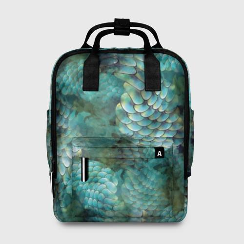 Женский рюкзак 3D Чешуя русалки