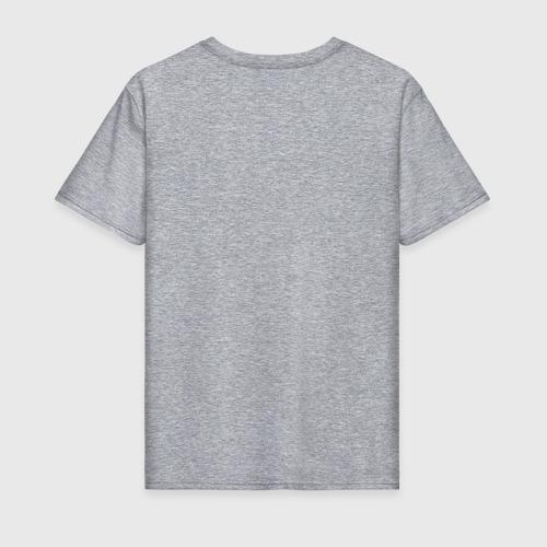 Мужская футболка с принтом Кися в кармане, вид сзади #1