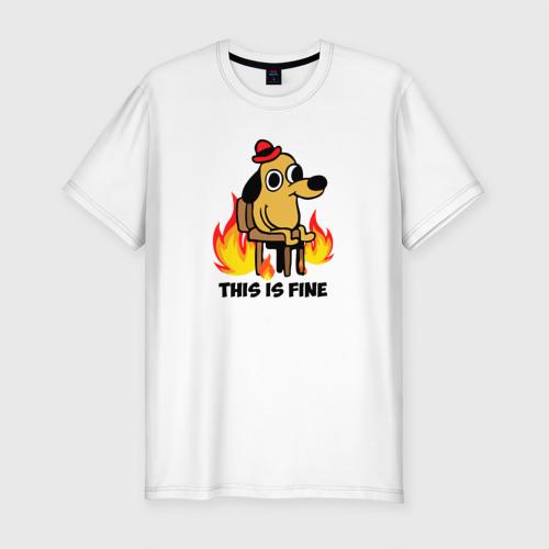 Мужская футболка премиум This Is Fine