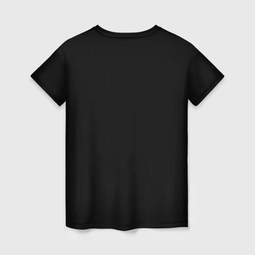 Женская 3D футболка с принтом Кошка колдунья, вид сзади #1