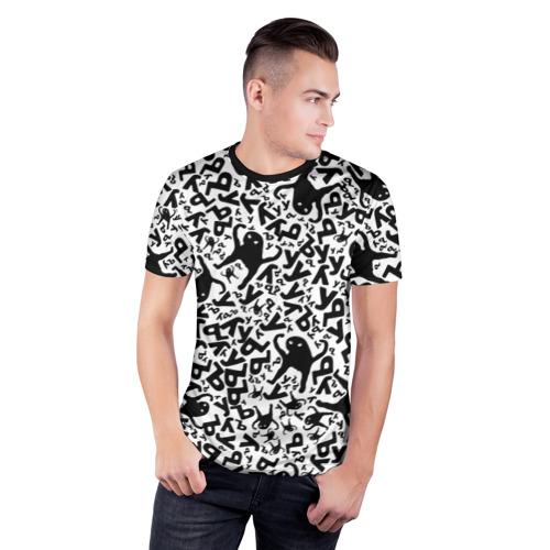 Мужская футболка 3D спортивная с принтом ЪУЪ, фото на моделе #1