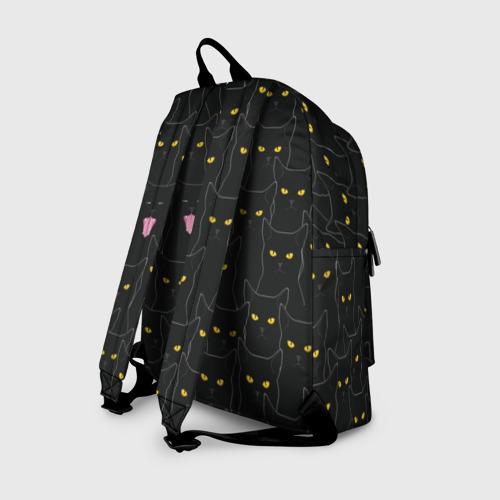Рюкзак 3D с принтом Чёрные коты, вид сзади #1
