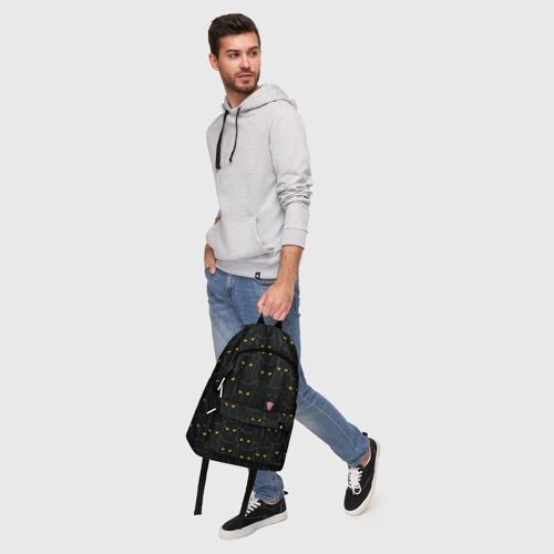 Рюкзак 3D с принтом Чёрные коты, фото #5