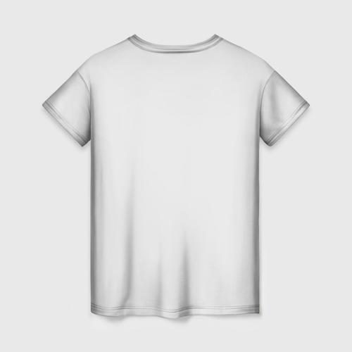 Женская 3D футболка с принтом Кокер спаниель, вид сзади #1