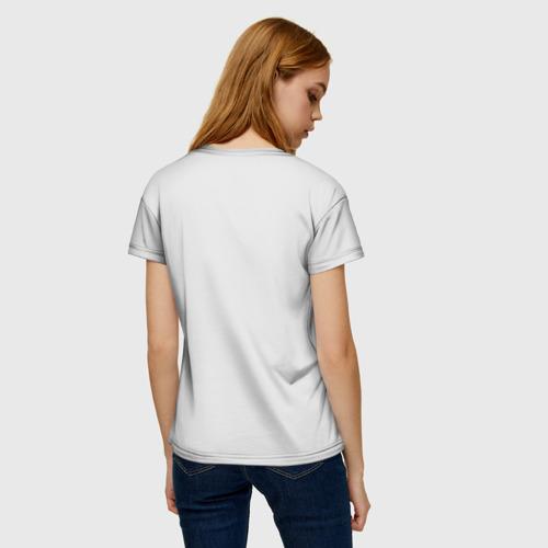 Женская 3D футболка с принтом Кокер спаниель, вид сзади #2