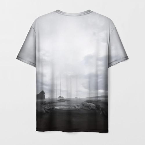 Мужская 3D футболка с принтом DEATH STRANDING, вид сзади #1