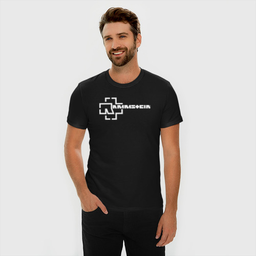 Мужская футболка премиум с принтом Rammstein, фото на моделе #1