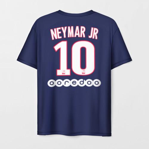 Мужская 3D футболка с принтом Neymar Home 19-20, вид сзади #1