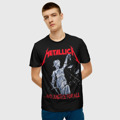 Мужская 3D футболка с принтом METALLICA   МЕТАЛЛИКА   МЕТАЛИКА, фото на моделе #1