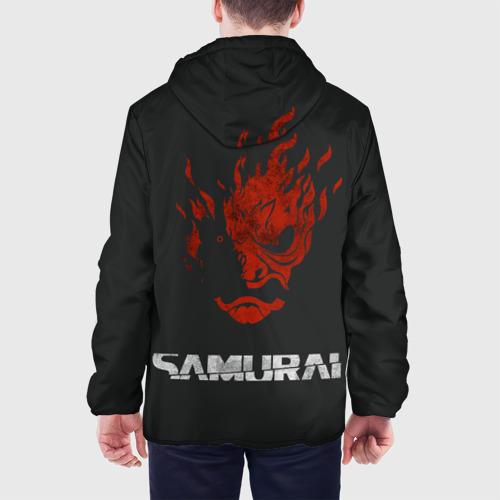 Мужская куртка 3D с принтом Cyberpunk 2077, вид сзади #2