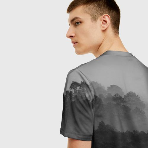 Мужская 3D футболка с принтом RAMMSTEIN, вид сзади #2