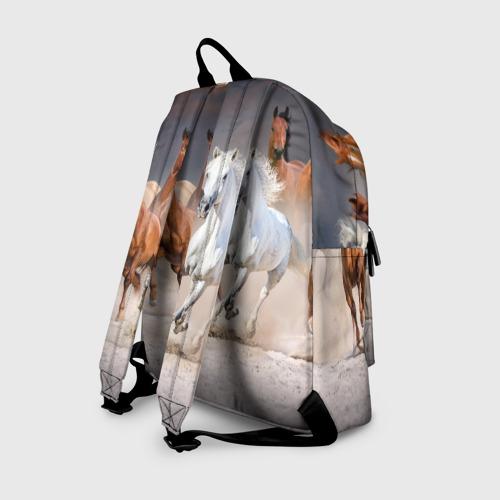 Рюкзак 3D с принтом Табун, вид сзади #1