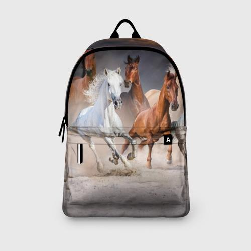 Рюкзак 3D с принтом Табун, вид сбоку #3