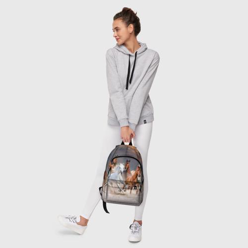 Рюкзак 3D с принтом Табун, фото #6