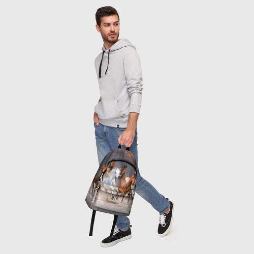 Рюкзак 3D с принтом Табун, фото #5