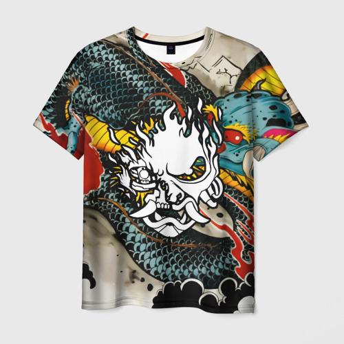 Мужская 3D футболка CYBERPUNK2077(SAMURAI)