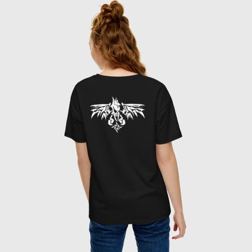 Женская футболка oversize с принтом METALLICA (НА СПИНЕ), вид сзади #2