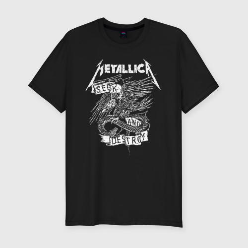 Мужская футболка премиум с принтом Metallica, вид спереди #2
