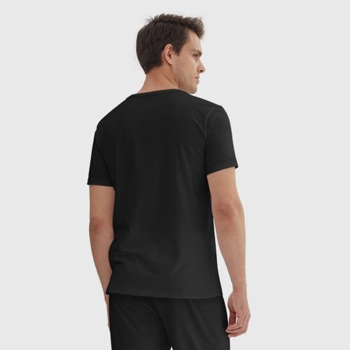 Мужская пижама хлопок с принтом Pepega, вид сзади #2