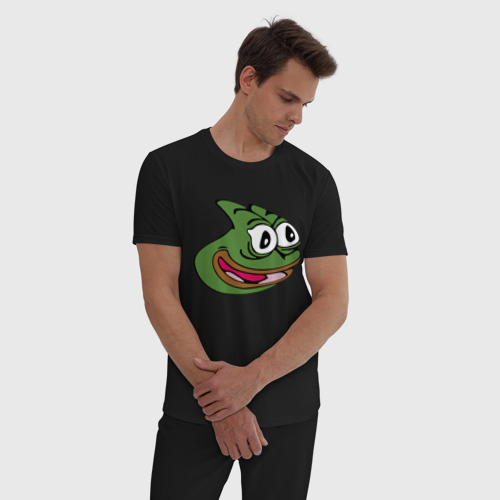 Мужская пижама хлопок с принтом Pepega, фото на моделе #1