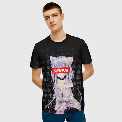 Мужская 3D футболка с принтом SENPAI ANIME, фото на моделе #1