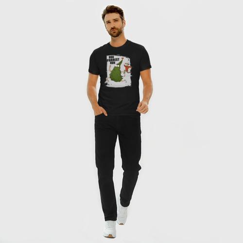 Мужская футболка премиум с принтом Беги, Форрест, беги!, вид сбоку #3