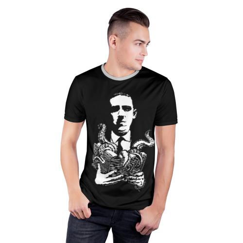 Мужская футболка 3D спортивная с принтом Лавкрафт, фото на моделе #1