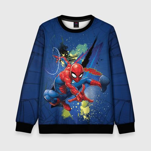 Детский 3D свитшот Spider-man with a spiderweb