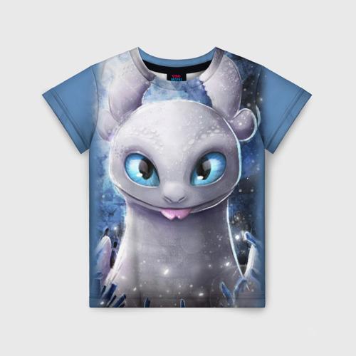 Детская 3D футболка с принтом Дневная фурия, вид спереди #2