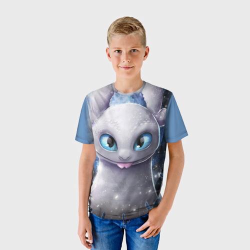 Детская 3D футболка с принтом Дневная фурия, фото на моделе #1