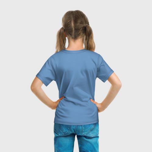 Детская 3D футболка с принтом Дневная фурия, вид сзади #2