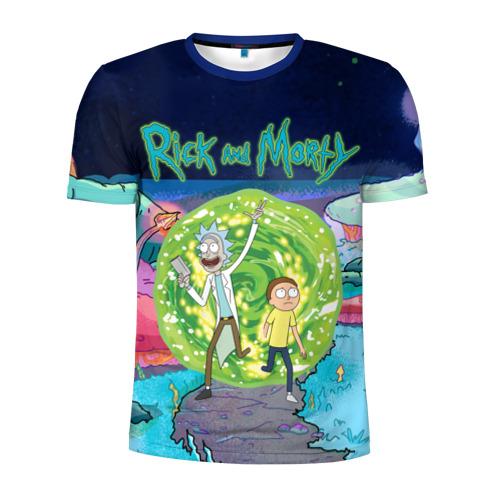 Мужская футболка 3D спортивная Путешествия Рик и Морти