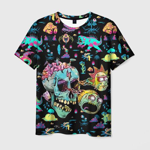 Мужская 3D футболка Monsters Rick and Morty