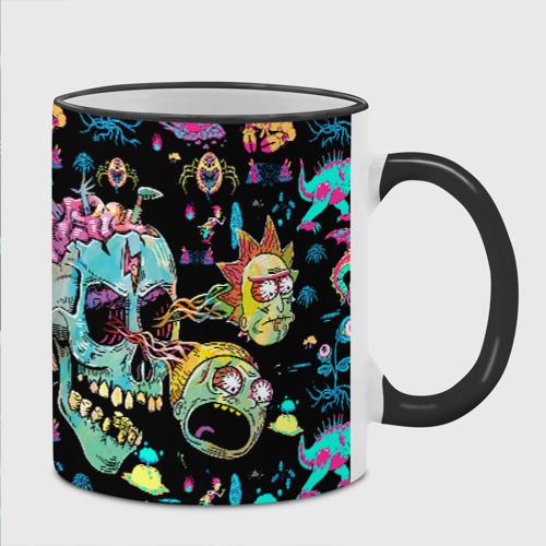 Кружка с полной запечаткой с принтом Monsters Rick and Morty, фото на моделе #1