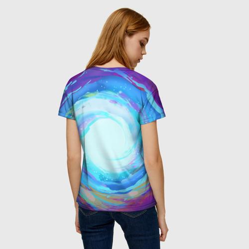 Женская 3D футболка с принтом Rick in nirvana, вид сзади #2