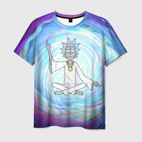 Мужская 3D футболка Rick in nirvana