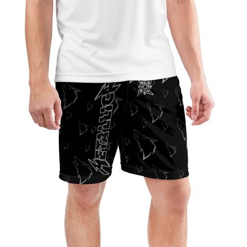 Мужские шорты 3D спортивные с принтом METALLICA   МЕТАЛЛИКА, фото на моделе #1
