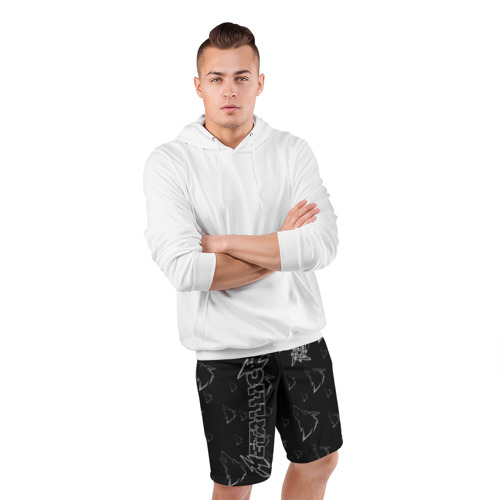 Мужские шорты 3D спортивные с принтом METALLICA   МЕТАЛЛИКА, фото #4