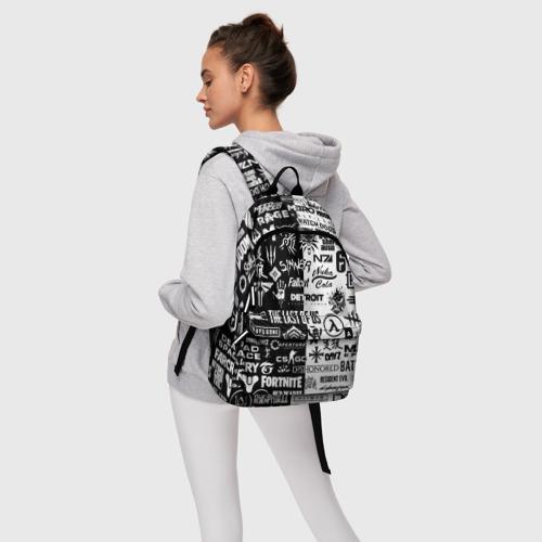 Рюкзак 3D с принтом ЛОГОТИПЫ ИГР / LOGO BOMBING GAMES, фото #4