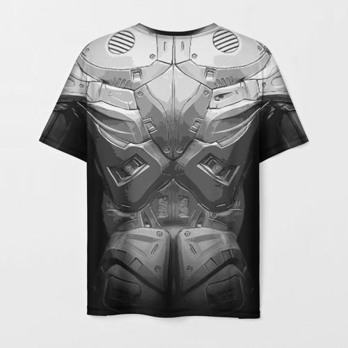 Мужская 3D футболка с принтом Crysis Экзоскелет, вид сзади #1