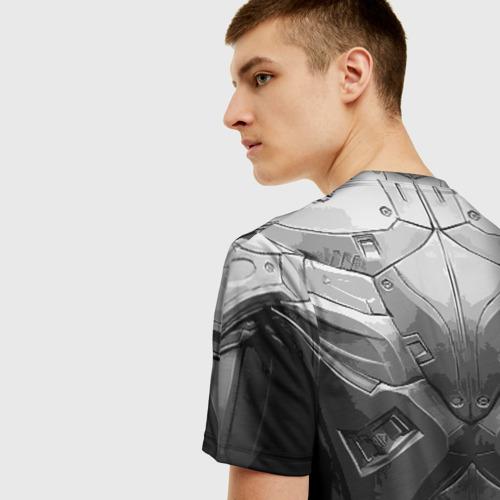 Мужская 3D футболка с принтом Crysis Экзоскелет, вид сзади #2