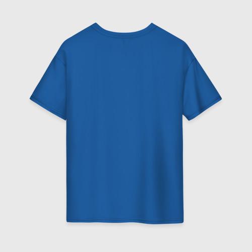 Женская футболка oversize с принтом Интроверт, вид сзади #1