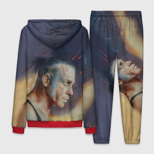 Мужской 3D костюм с принтом Rammstein, вид сзади #1