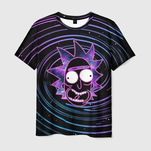 Мужская 3D футболка с принтом Rick Sanchez, вид спереди #2