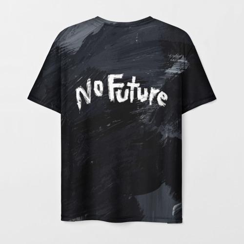 Мужская 3D футболка с принтом DARK - No Future (На Спине), вид сзади #1