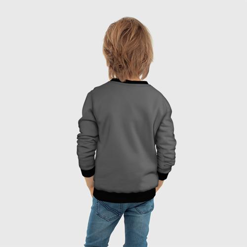 Детский 3D свитшот с принтом BILLIE EILISH, вид сзади #2