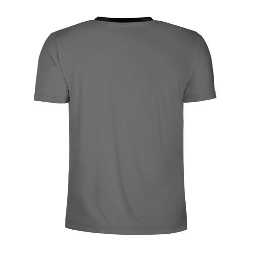 Мужская футболка 3D спортивная с принтом BILLIE EILISH, вид сзади #1